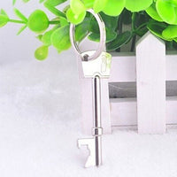Key Shaped Metal Beer Bottle Opener Keychain