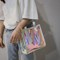 Holographic Tote Bag w/Shoulder Chain - 3 Colors to Choose From (FREE SHIPPING)