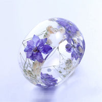 Transparent Flower Bangle Bracelet (FREE SHIPPING)