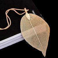 Hollow Leaf Pendant Sweater Necklace (FREE SHIPPING)