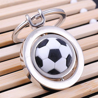 Rotating 3D Soccer Charm Keychain (FREE SHIPPING)