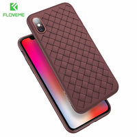 Super Soft Grid Patterned Silicone Mobile Phone Case for iPhone (FREE SHIPPING)