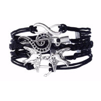 Genuine Leather Charm Bracelet - 4 Colors/Styles (FREE SHIPPING)