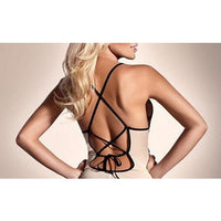Lace and Bow Lingerie Top and G-String Set (FREE SHIPPING)