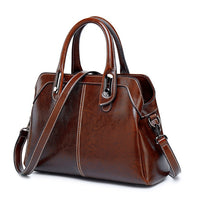 Genuine Leather Vintage Handbag w/Detachable Shoulder Strap (FREE SHIPPING)