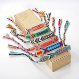 Retro Handmade Multi-Color Braided Friendship Bracelets (FREE SHIPPING)