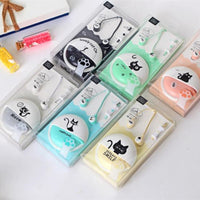 Cartoon Cat In-Ear 3.5mm Wired Stereo Earphones (FREE SHIPPING)