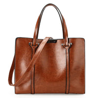 Vintage Oil Wax PU Leather Handbag w/Shoulder Strap - 4 Colors (FREE SHIPPING)