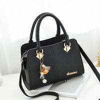 Casual PU Leather Handbag w/Shoulder Strap and Charm - 5 Colors (FREE SHIPPING)
