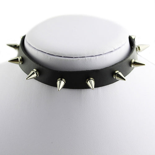 Punk Style Faux Leather Spike Rivet Choker (FREE SHIPPING)