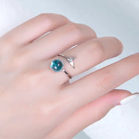 Handmade Sterling Silver Moonstone Mermaid Tail Ring (FREE SHIPPING)