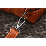 European Oil Waxed Shoulder Bag w/Detachable Strap - 4 Colors (FREE SHIPPING)