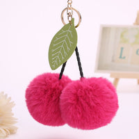 Pompom Cherries Keychain - Available in 15 Different Colors (FREE SHIPPING)