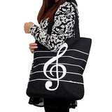 Musical Note Canvas Tote Bag