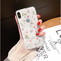 Soft Silicone Pressed Dried Flower Mobile Phone Case for iPhone (FREE SHIPPING)