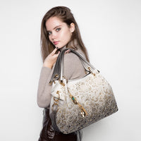 Faux Leather Hollowed Out Ombre Handbag - 4 Different Colors (FREE SHIPPING)