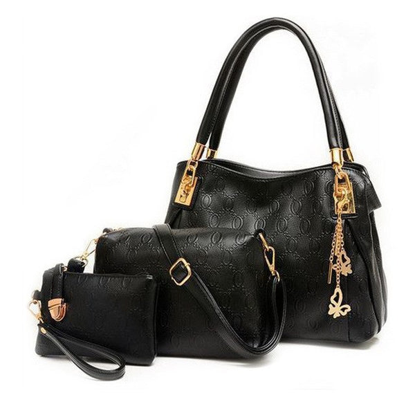 Fancy PU Leather 3 Piece Bag Set - 4 Different Colors to Choose From (FREE SHIPPING)