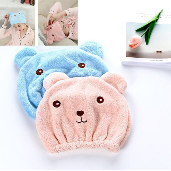 Microfiber Hair Turban Quick Hair Drying Hat - 2 Colors (FREE SHIPPING)