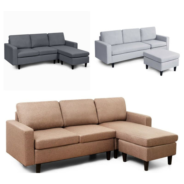 L-Shaped Convertible Sectional with Reversible Chaise (FREE SHIPPING)
