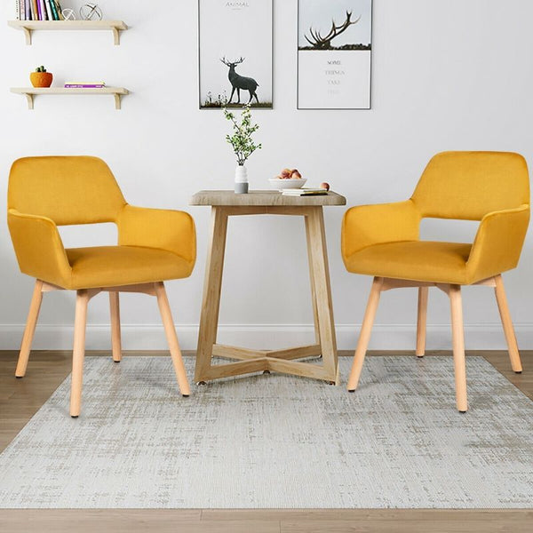 Set of 2 Modern Accent Armchairs (FREE SHIPPING)