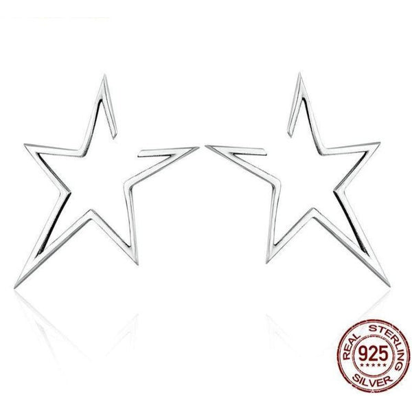 Sterling Silver Exquisite Star Stud Earrings (FREE SHIPPING)