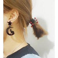 Moon, Star and Cat Drop Acrylic Earrings (FREE SHIPPING)