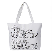 Cartoon Cats, Zebra and Nautical Canvas Tote Bags (FREE SHIPPING)