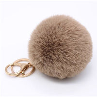 Big Faux Fur Pompom Keychain - 14 Different Colors to Choose From (FREE SHIPPING)