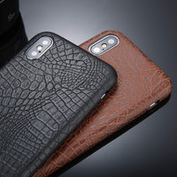 Faux Croc Texture Mobile Phone Case for iPhone (FREE SHIPPING)