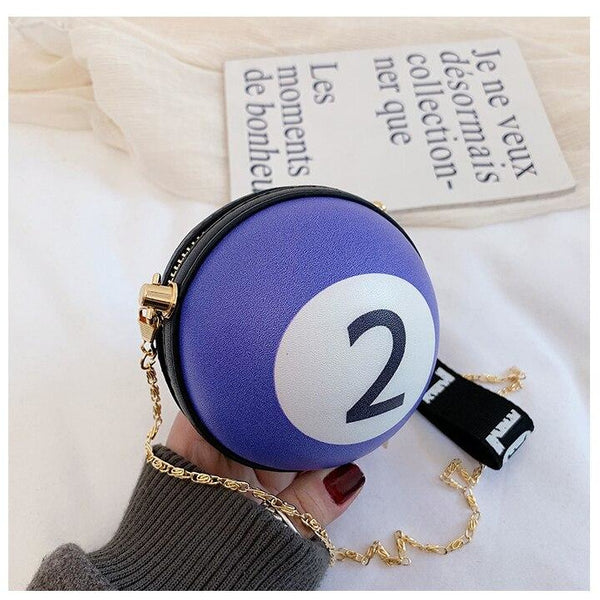 Pool Ball Clutch Bag with Shoulder Chain (FREE SHIPPING)
