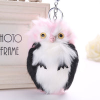 Fluffy Faux Fur Owl Keychain - 8 Different Colors (FREE SHIPPING)