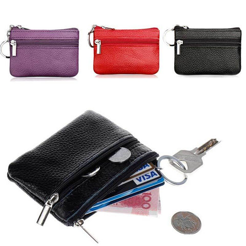 Small Change Mini Zipper Pocket Pouch w/Keyring