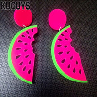 Big Watermelon Acrylic Drop Earrings (FREE SHIPPING)