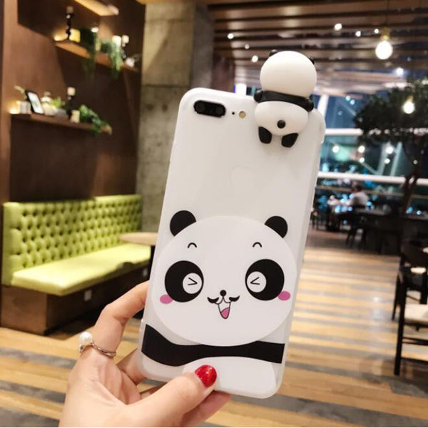 Cute 3D Cartoon Panda Mobile Phone Case for iPhone 11 Series (FREE SHIPPING)
