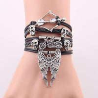 Genuine Leather Angel Wings Bracelet