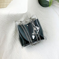 Transparent Tote Bag w/Shoulder Chain (FREE SHIPPING)