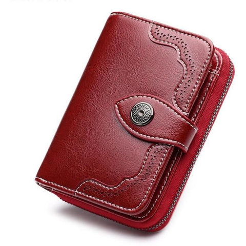Genuine Split Leather Casual Wallet - Available in 3 Different Colors!