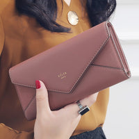 Designer Long Envelope Clutch Wallet - 5 Different Colors (FREE SHIPPING)