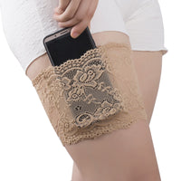 Lace Flower Thigh Garter with Phone Pocket