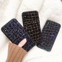 Faux Croc Pattern Luxury Glitter Mobile Phone Case for iPhone (FREE SHIPPING)