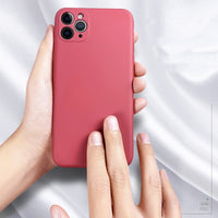 Liquid Silicone Mobile Phone Case for iPhone - 17 Colors (FREE SHIPPING)