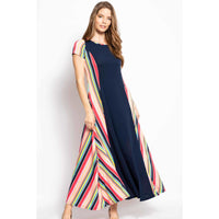 Breezy Summer Maxi Dress w/Side Pockets - 6 Colors and Patterns!