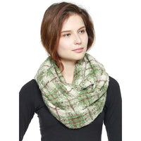 Soft Plaid Infinity Scarf - 4 Different Colors to Choose From!