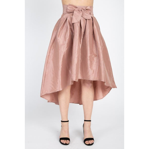 Taffeta High Low Skirt