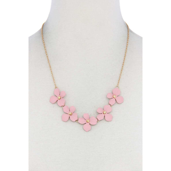 Pretty Flower Necklace - 7 Colors Available