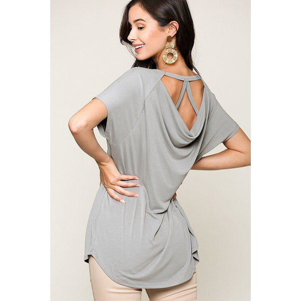 Scoop Neckline Solid Cupro Top