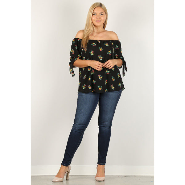 Plus Size Fruit Print Top