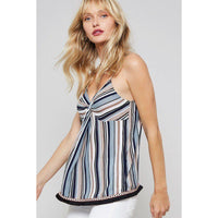 Adjustable Striped Camisole Top