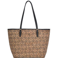 Cork Textured Fashion Tote Bag - 4 Colors