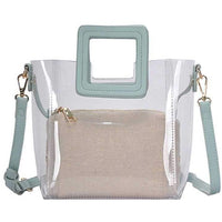 Transparent 2in1 Satchel w/Long Strap - 7 Colors